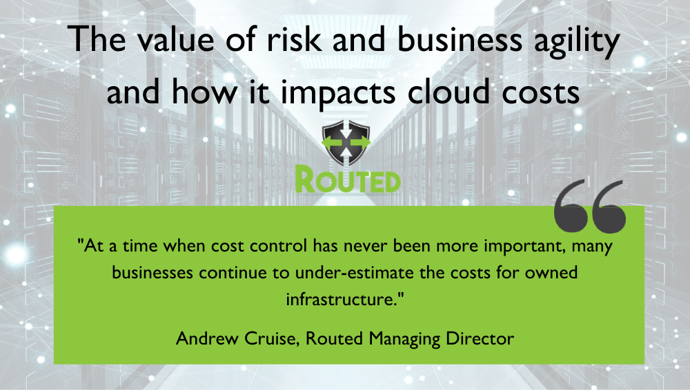 The value of risk and business agility and how it impacts cloud costs